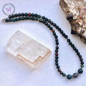 Bloodstone Bead Necklace
